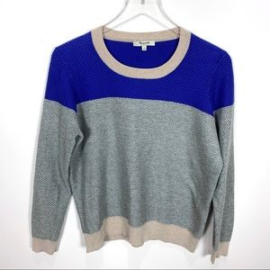Madewell color-weave sweater color block